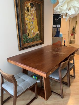 Solid Wooden Table with 4 Chairs for Sale in Queens, NY