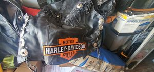 Leather motorcycle riding vest for Sale in Chandler, AZ