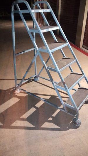 Cotterman 54 in pressure step sensitive rolling ladder for Sale in Austin, TX