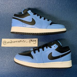 Air Jordan 1 Low GS 'University Blue Black' Size 7 for Sale in Washington, DC