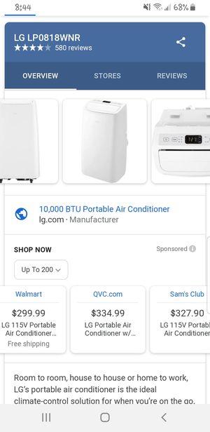 LG Portable Air Conditioner for Sale in Modesto, CA
