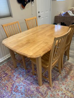 Wooden Kitchen table w/ four matching chairs for Sale in North Hollywood, CA