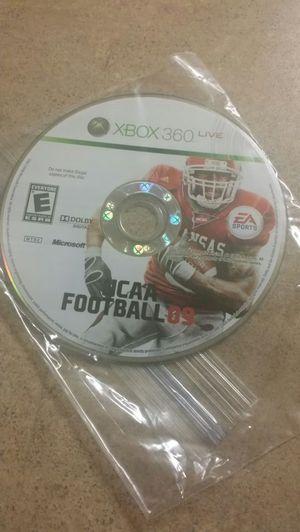 Xbox360 ncaa football09 game for Sale in Phoenix, AZ
