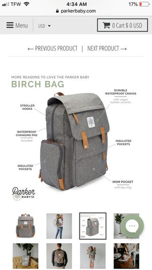 Birch diaper bag for Sale in Upland, CA