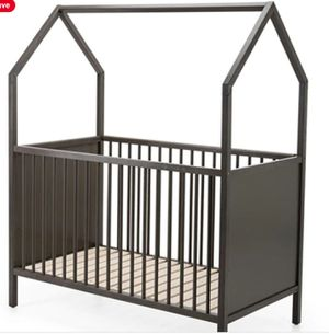 Stokke Home Convertible Crib with Naturepedic Mattress, Roof and Tent for Sale in Chicago, IL