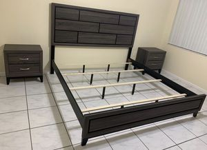 BED AND TWO NIGHT STAND, BRAND NEW! for Sale in Miami, FL