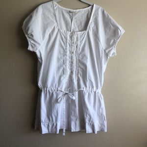 J. Jill Womens White 100% Cotton Short Sleeve Button Up Blouse Size Large for Sale in Fresno, CA