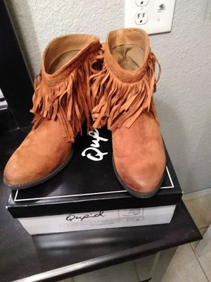 Rust colored boots, size 7 for Sale in Donna, TX