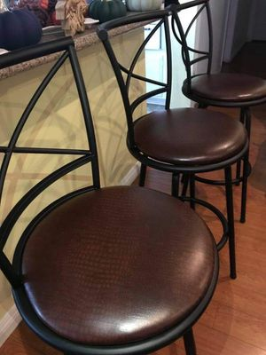 """3 Bar stools 30"""" inch TALL $160.. OBO like NEW for Sale in Anaheim, CA"""