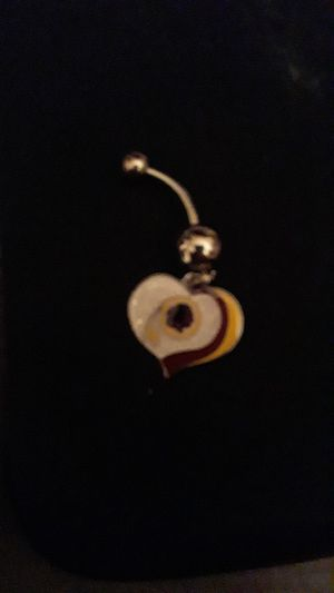 Love Redskins Belly/Naval Ring 14G Stainless Steel Brand New for Sale in Arlington, VA