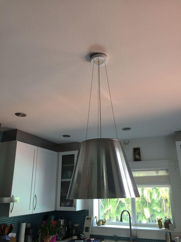 Contemporary silver kitchen island pendant light