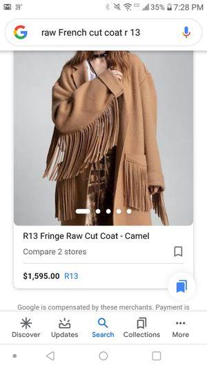 R13. Fringe raw cut coat for Sale in Spokane, WA