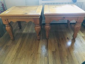 Wood end tables. for Sale in White Plains, NY