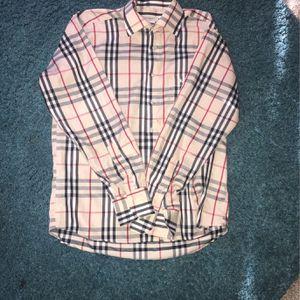 Burberry Long Sleeve Colar Shirt for Sale in Morrow, GA