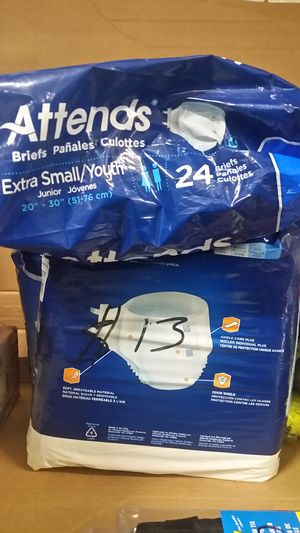 3 bags available for $13 a piece extra small/youth briefs for Sale in NC, US