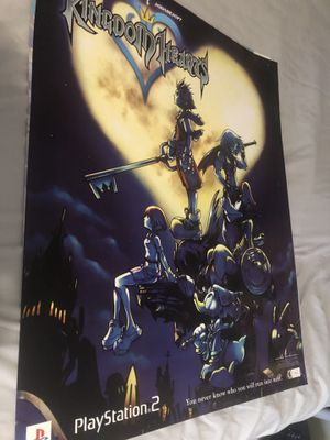 Kingdom hearts promo poster for Sale in San Diego, CA