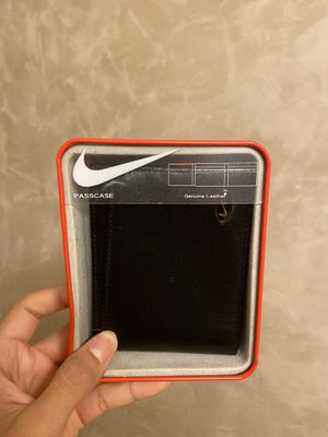 Nike Wallet Passcase Black Leather for Sale in Santa Fe Springs, CA