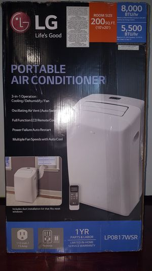 LG Portable Air Conditioner for Sale in Silver Spring, MD