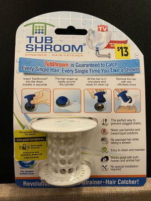 NEW Tub Shroom Tub Hair catcher 13$ Retail for Sale in Green Bay, WI