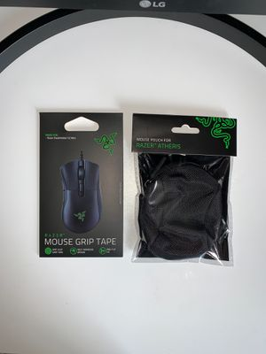 Razer mouse grip tape and pouch for Sale in Des Moines, IA