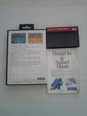 Sega Master System Game:2 in 1 Cartridge Hang On & Safari Hunt Great Condition for Sale in Reedley, CA