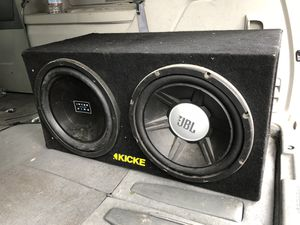 """2 12"""" subwoofers with amplifier for Sale in Alhambra, CA"""