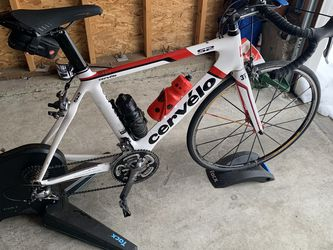 Cervelo 56 Cm And Tacx Flux 2 Trainer for Sale in Renton,  WA