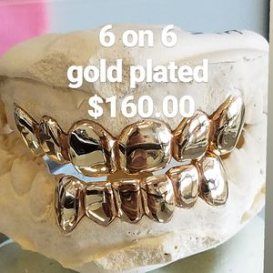 gold plated grillz special for Sale in Tampa, FL
