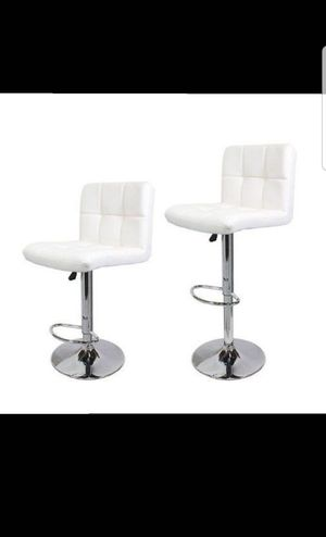 EACH$30 2 for $55 TMS Synthetic Leather Modern Design Adjustable Swivel Barstools Hydraulic Bar Stool (White) for Sale in Rancho Cucamonga, CA