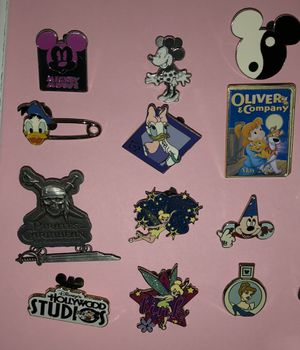 Disney pin lot for sale $30 ($2.50 pin) great price! 12 pins included for Sale in Phoenix, AZ