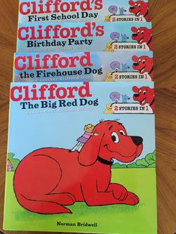 Set Of 4 Clifford The Big Red Dog Books (2 Stories Per Book) for Sale in Gresham,  OR