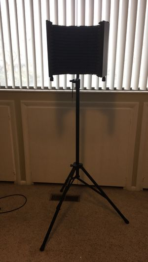 Studio mic stand and sound shield for Sale in Provo, UT