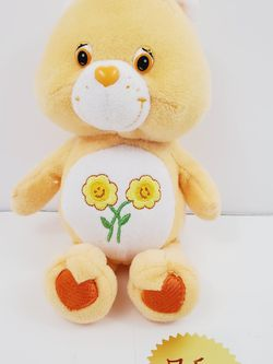 """Care Bears Friend Bear 9"""" Orange With Flowers 2002 Plush Stuffed Doll Toy for Sale in Queens,  NY"""