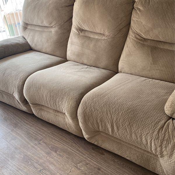 Comfy Microfiber Recliner Sofa