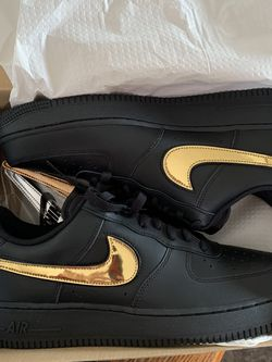 AIR FORCE 1 LOW '07 LV8 'REMOVABLE SWOOSH - BLACK GOLD' for Sale in Arlington,  VA