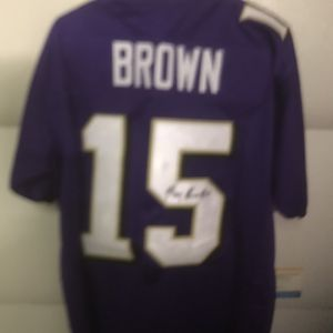 Marquise Brown #15 autographed Baltimore Ravens Jersey With COA for Sale in Cranberry Township, PA