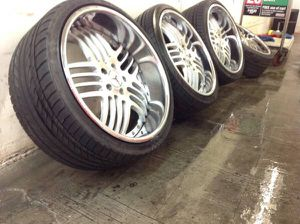"""Set Of Mercedes Benz Custom Built 20"""" Staggered AMG Tuner Wheels and Tires for Sale in PRINCE, NY"""