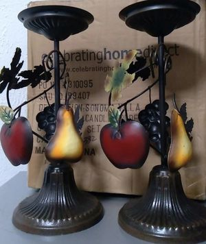 Home interiors fruits table candle holders for Sale in Dallas, TX