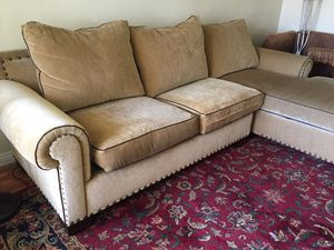 2 piece sofa set - tan with detail for Sale in US