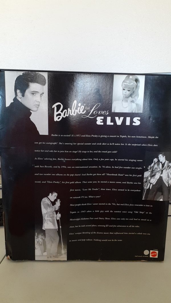 NEW IN BOX ELVIS LIVE ON STAGE BARBIE GIFT SET COLLECTOR EDITION MATTEL