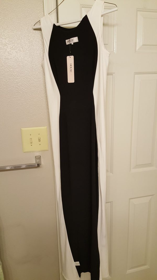 House of CB black and white long dress comes in original box