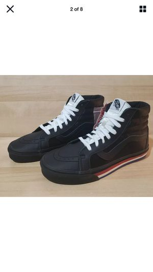 Vans Sk8 Hi Re-Issue - Size 10 Mens - Black Leather & Satin for Sale in Hollywood, CA