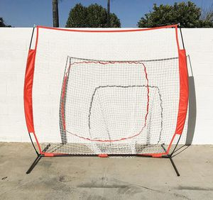 Brand new $55 Baseball and Softball Practice Net Hitting and Pitching 7'x7' with Bow Frame for Sale in Pico Rivera, CA