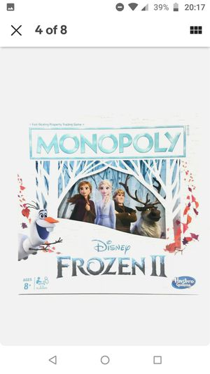 Monopoly Game: Disney Frozen 2 Edition Board Game for Ages 8 and Up, New for Sale in Silver Spring, MD