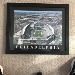 Framed Eagles Stadium Picture for Sale in Sellersville, PA
