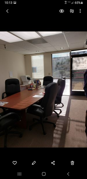 """Office conference table 104"""" x 42"""", 5 executive chairs, desk for Sale in Scottsdale, AZ"""