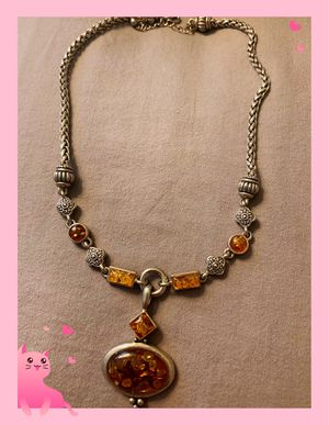 Beautiful Amber stone long necklace 16 inches long for Sale in Monterey Park, CA