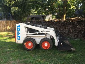 Bobcat 743 kubota with trailer and forks 1990 for Sale in EASTAMPTN Township, NJ