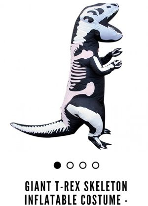 Kids inflatable skeleton t-rex costume for Sale in Salt Lake City, UT