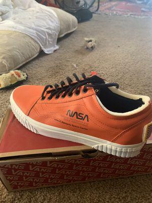 Vans orange nasa space voyage firecracker size 10 for Sale in Portland, OR